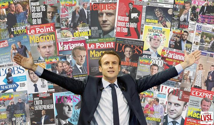 Macron et ses unes - lvsl.fr - ThePrairie.fr !