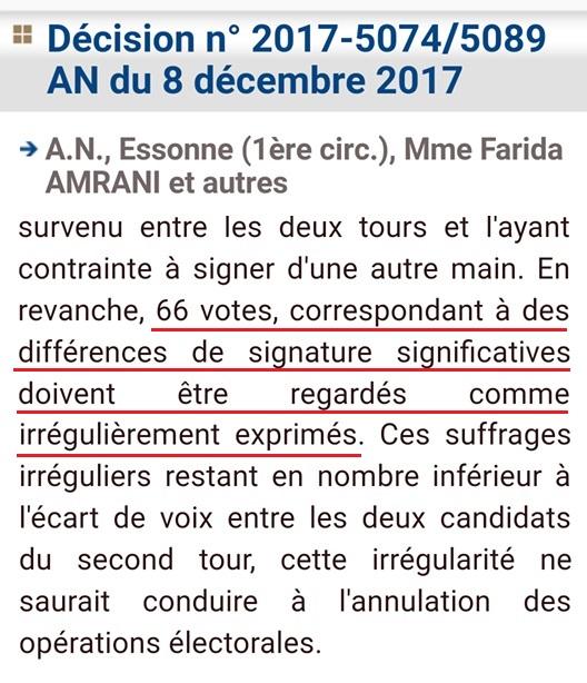 Décision Conseil constitutionnel, Valls/Amrani - ThePrairie.fr !