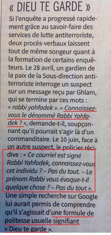 """Police antiterroriste et """"Rabbi Yahfadek"""" - ThePrairie.fr !"""