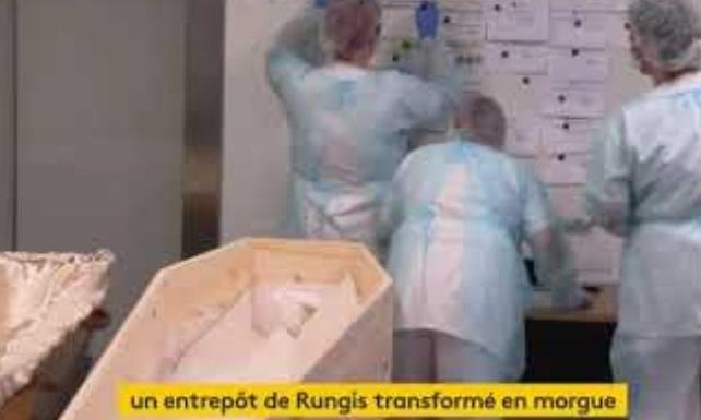 Entrepôt de Rungis transformé en morgue