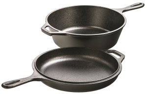 Lodge LCC3 Pre-Seasoned Cast-Iron Combo Cooker, 3.2-Quart