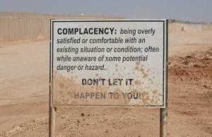 ComplacencyKillsSign