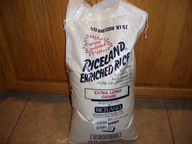 Buying rice in bulk is a huge cost savings.