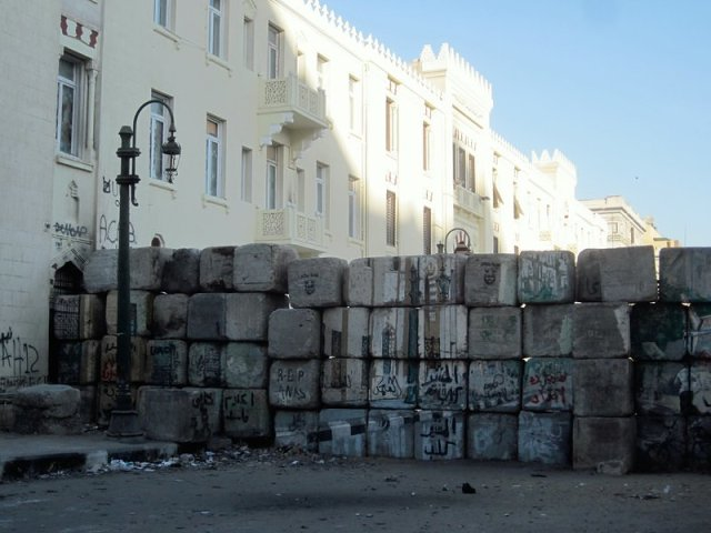 Makeshift barricades are a low-tech way of blocking or slowing access.