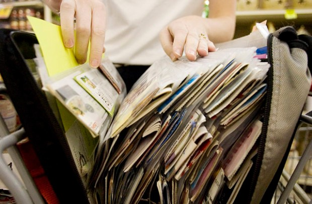 Binders keep all your coupons organized so you can get your hands on them quickly.