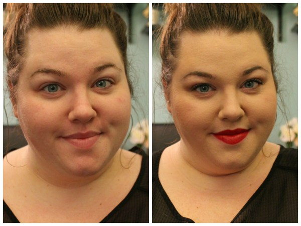 Holiday Party Makeup Before and After