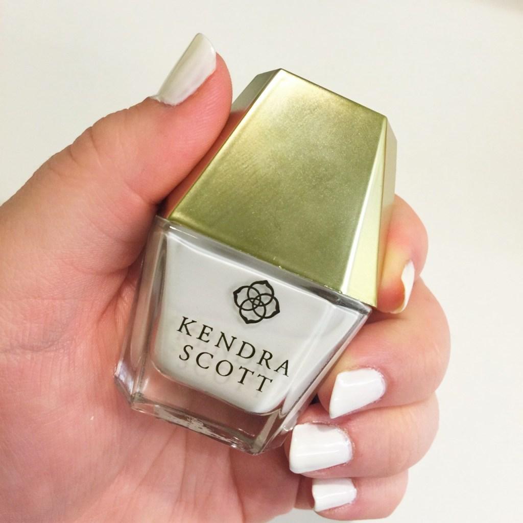 kendra scott nail lacquer indianapolis blogger bright white