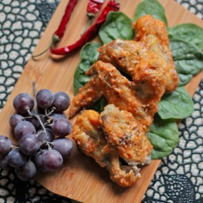 Peach Chili Chicken Wings - www.ThePrimalDesire.com