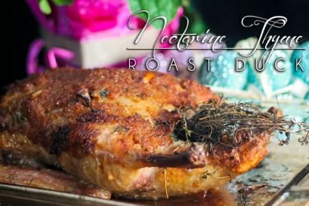 Nectarine Thyme Roast Duck - http://www.theprimaldesire.com/nectarine-thyme-roast-duck/