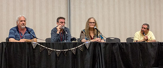 Anthony Tollin, Will Murray, Michelle Nolan and moderator Tony Isabella discuss the history of Street & Smith comics.