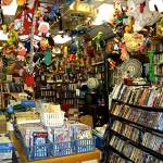 Bonnett's Books in Dayton, Ohio, is packed with books, comics, DVDs, pulps, magazines and hundreds of knicknacks hanging from the ceiling or on the countertops.