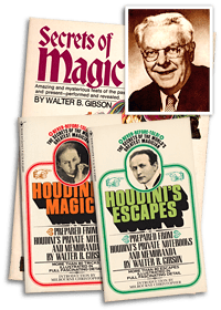 Walter Gibson and three of his books on magic
