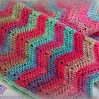 Chevron Super Scarf - Crochet Pattern