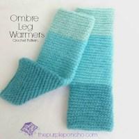 Ombre Leg Warmers - Crochet Pattern