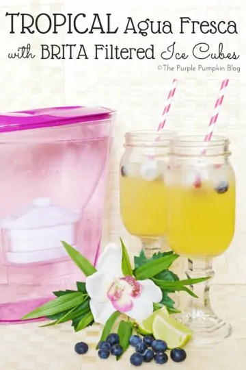 Tropical Agua Fresca with BRITA Filtered Ice Cubes