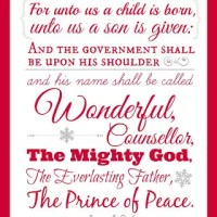 Printable Isaiah 9:6 Wall Art for Christmas! Plus, Find out What's Really Happening to My Blog