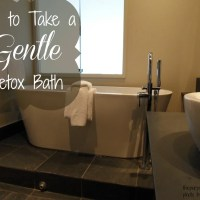 How to Take a Gentle Detox Bath