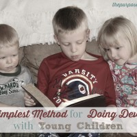 The Simplest Method for Doing Devotions with Young Children