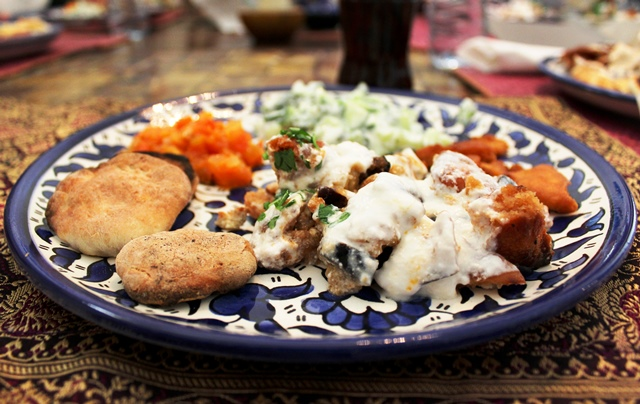 Arabic cookery - Beit Sitti vegetarian meal - Amman Jordan - image zoedawes