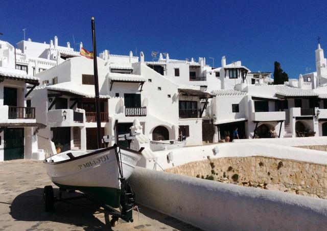 Binibeca Vell fishing village on Menorca, Spain - image zoedawes