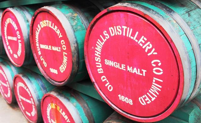 Bushmills Distillery whiskey barrels - Northern Ireland zoedawes