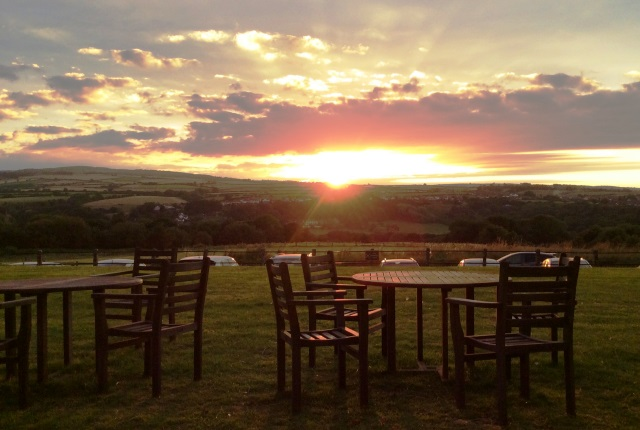Sunset at Larpool Hall Whitby - photo zoedawes