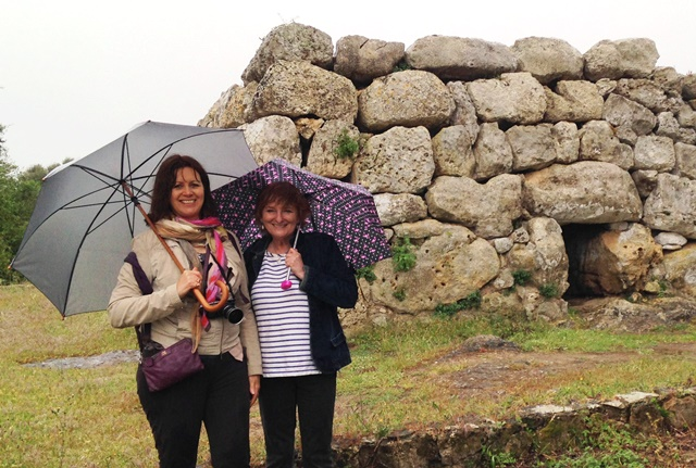 Menorca Naveta in the rain - image zoedawes