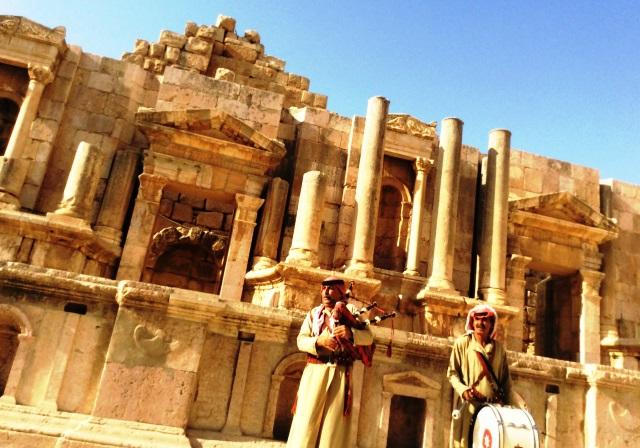 Musicians Jerash Theatre Jordan - zoedawes