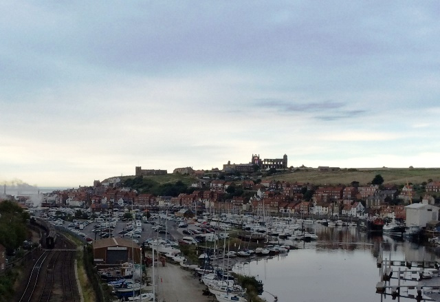 Whitby Harbour, abbey and steam train - yorkshire - photo zoedawes