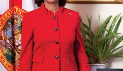 """Florida's Lieutenant Governor Jennifer Carroll tries being funny by insulting """"black lesbians.""""  Photo: Official from Lt. Governor Jennifer Carroll's website"""