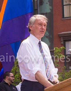 Rep. Ed Markey at the Boston Pride Flag Raising Day 2013.  Photo: TRT/Sean Sullivan