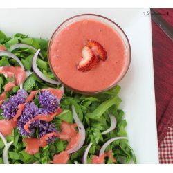 Cheery Raw Strawberry Vinaigrette Salad Dressing Recipe Image 0 Strawberry Vinaigrette Recipe Healthy Strawberry Vinaigrette Recipe Balsamic Vinegar nice food Strawberry Vinaigrette Recipe