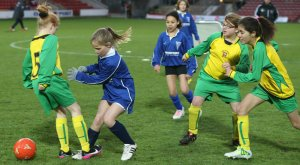 Girls final Flint v Wrexham at the Racecourse