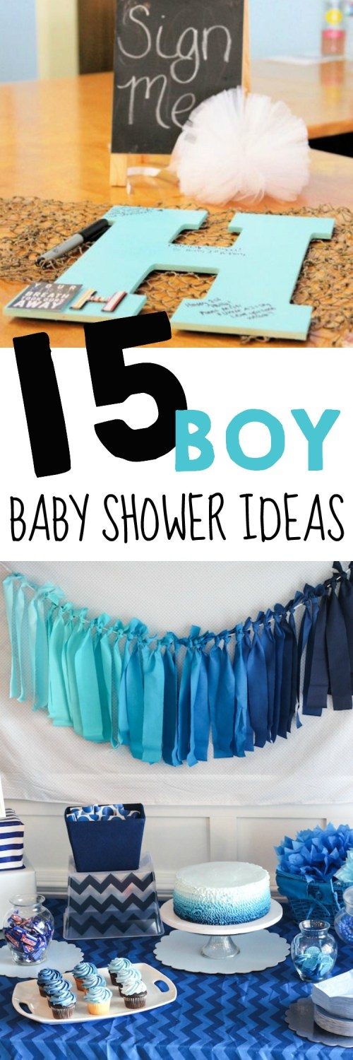 Medium Of Baby Shower For Boys