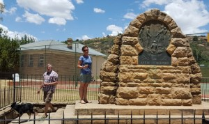 Anna Susanna (Antjie) Scheepers Monument on the Ladybrand High School grounds, heroine of the Louis Trichardt Trek
