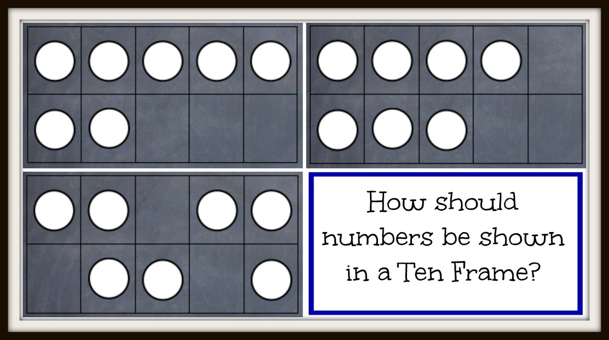 What is the Proper Way to Show Numbers in a Ten Frame?