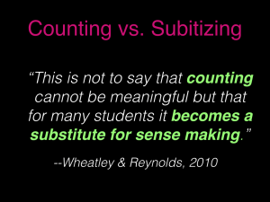 Counting versus Subitizing