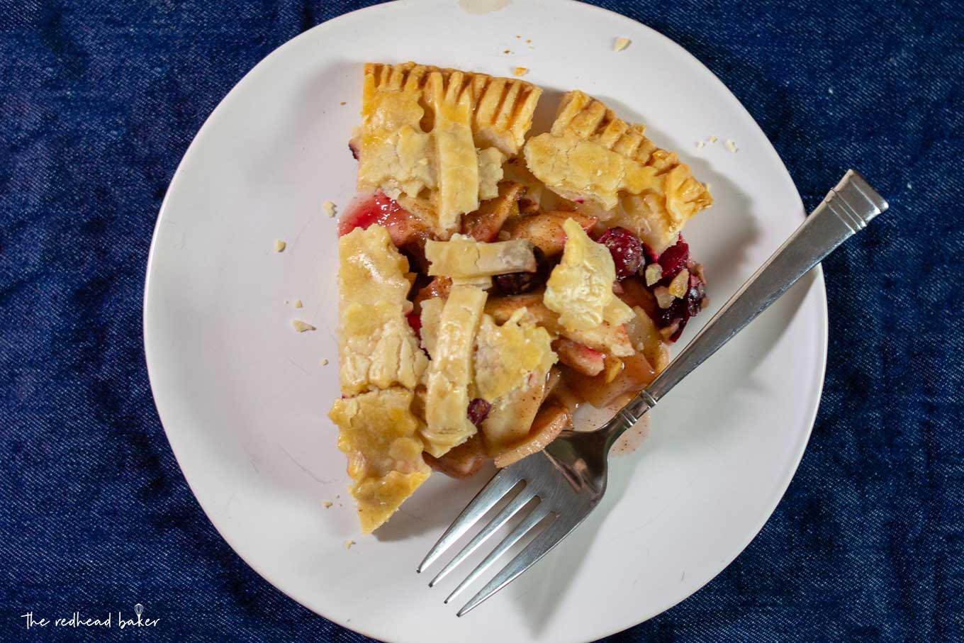 Amazing Cheese A Slice Cranberry Apple Pie Cranberry Apple Pie Redhead Baker Apple Pie Slice Images Apple Pie Slice An Overhead Shot nice food Apple Pie Slice