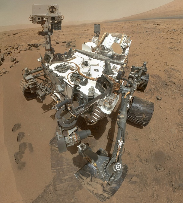 Curiosity Self Portrait Mars