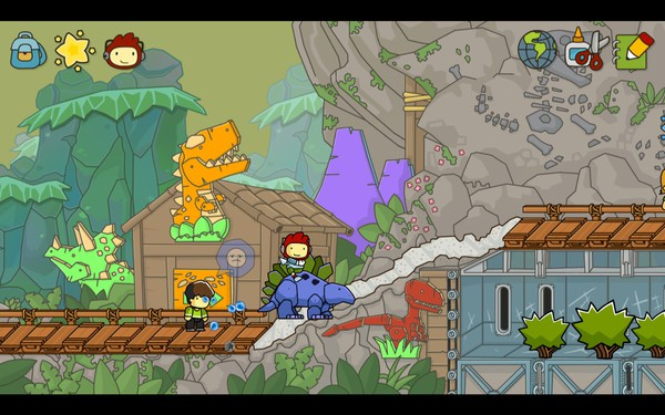 Scribblenauts Unlimited Screenshot Wallpaper Stegosaurus
