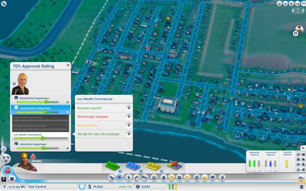 Sim City Screenshot Wallpaper Approval Rating