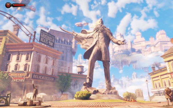 Bioshock Infinite Screenshot Wallpaper Comstock Statue