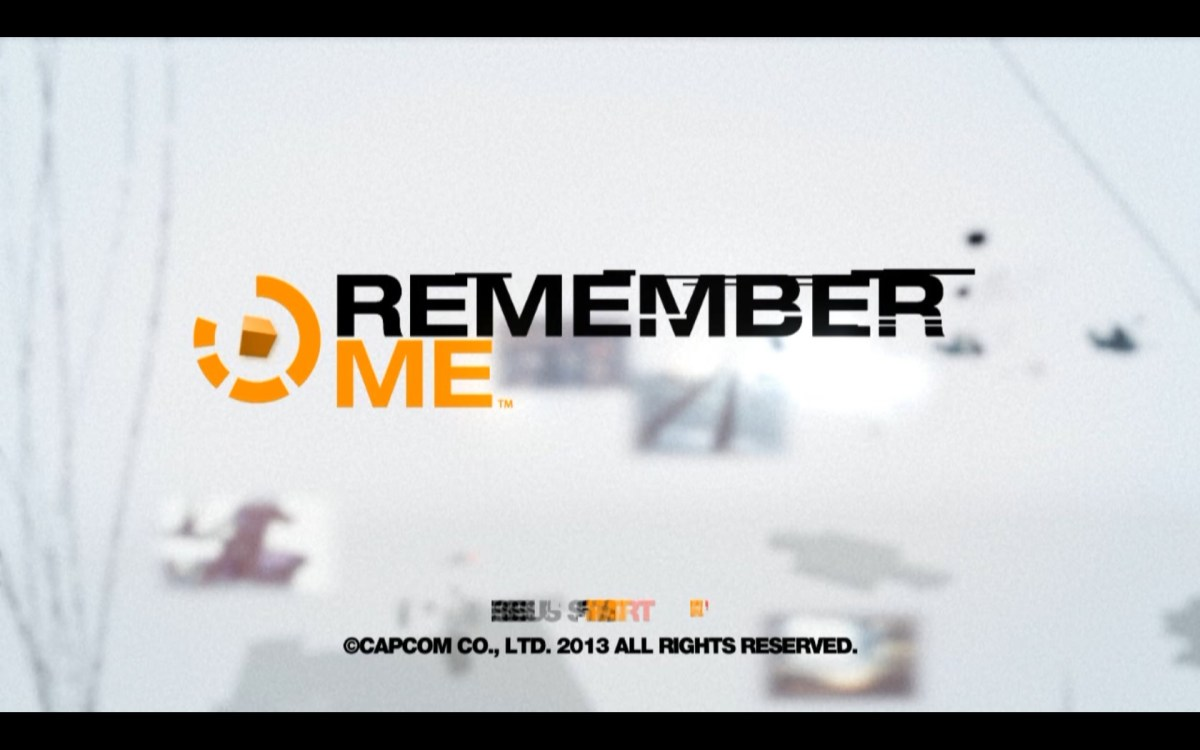 Remember Me Title Screen
