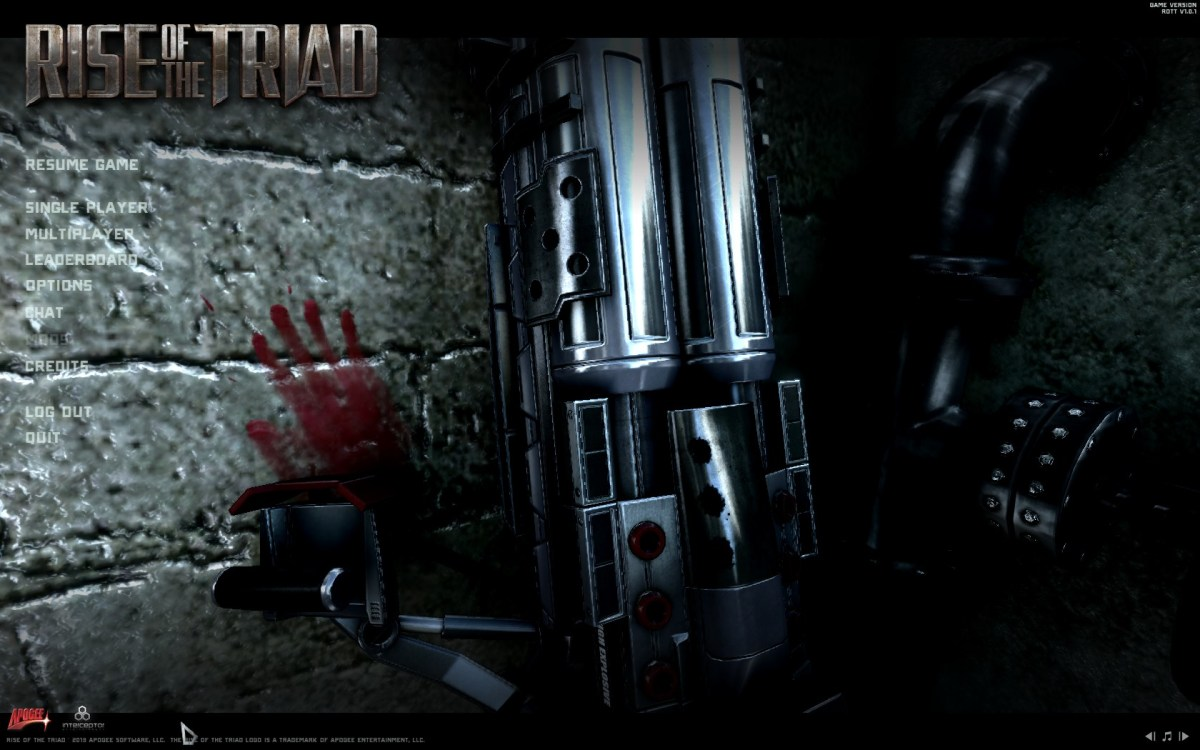 Rise of the Triad Screenshot Wallpaper Title Screen