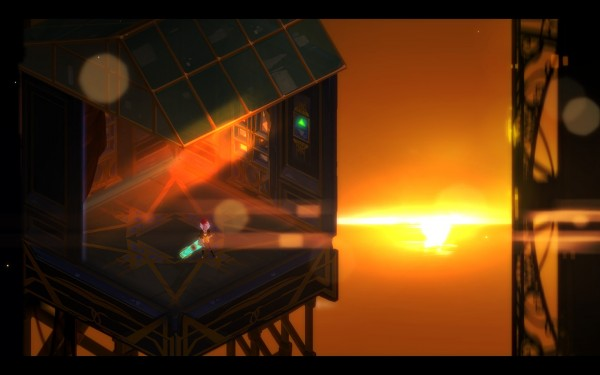 Transistor Review Screenshot Wallpaper The Last Sunset on Cloudbank
