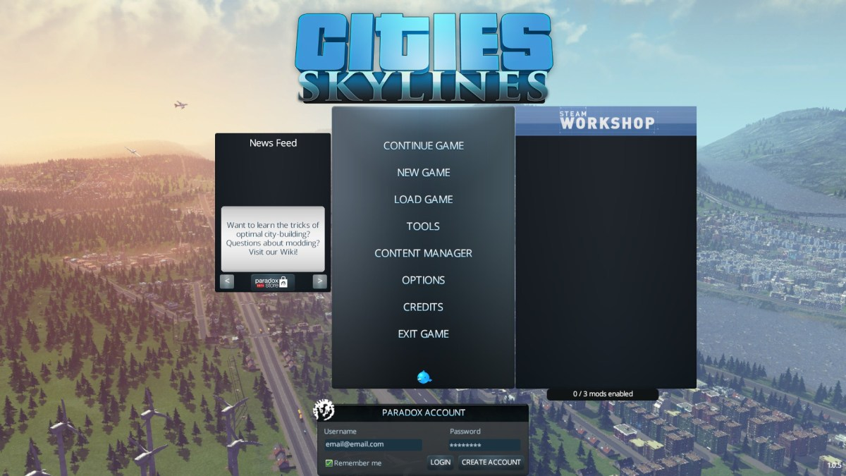 Cities Skylines Review Screenshot Wallpaper Title Screen