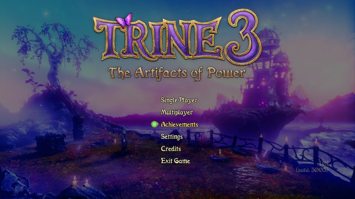 Trine 3 Artifacts of Power Review Screenshot Wallpaper Title Screen