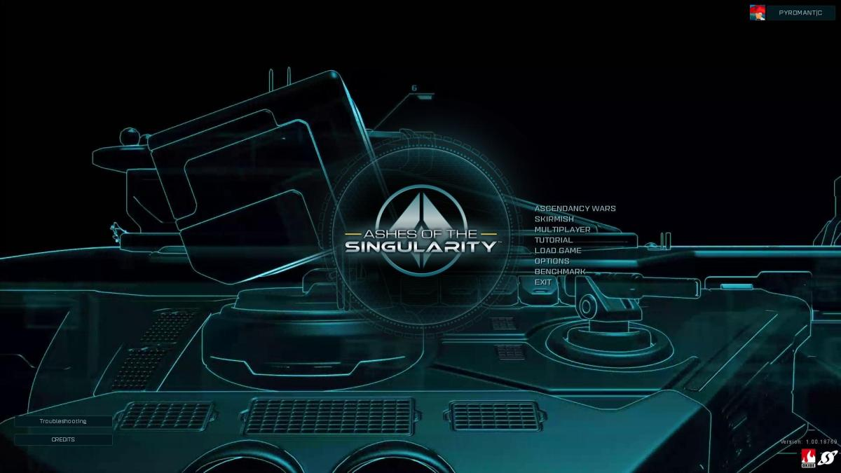 Ashes of the Singularity Review Screenshot Wallpaper Title Screen