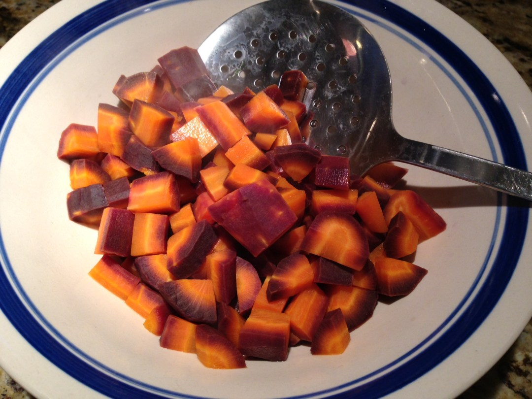 purple carrots cooked