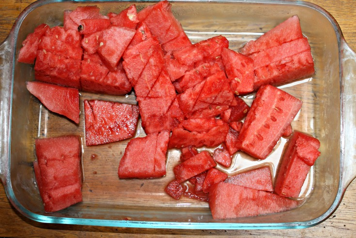 resized leftover watermelon slices